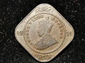 India, George V, 2 Annas 1919, Fair, WB7579